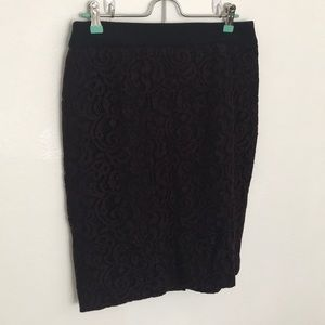 Pencil fit lace skirt